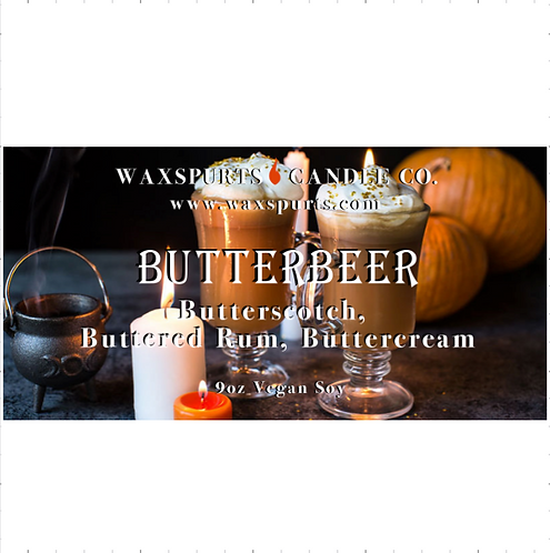 Butterbeer candles and wax melts