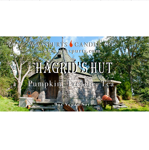 Hagrid's Hut candles and wax melts