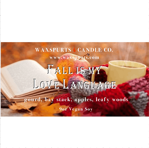 Fall is my Love Language inspired candles and wax melts