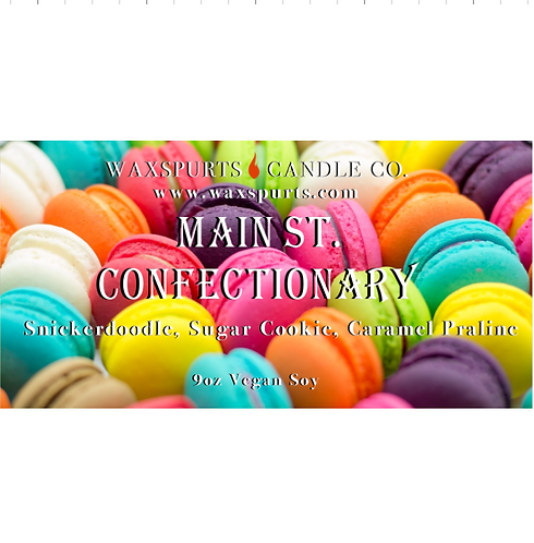 Main St Confectionary candles and wax melts