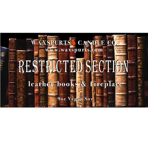 Restricted Section candle and wax melts