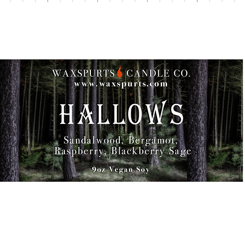 Hallows candles and wax melts