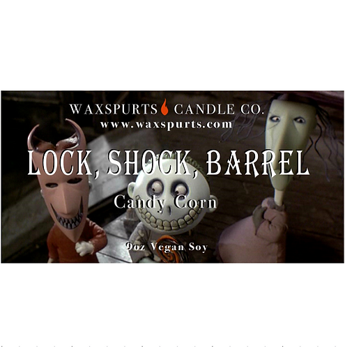Lock Shock and Barrel NBC candles and wax melts