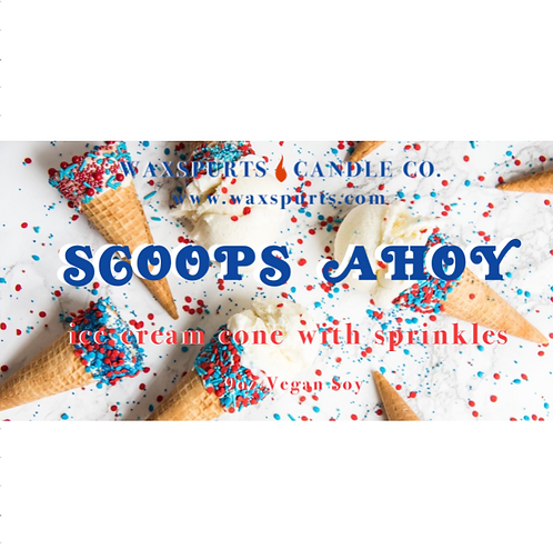 Scoops Ahoy candles and wax melts