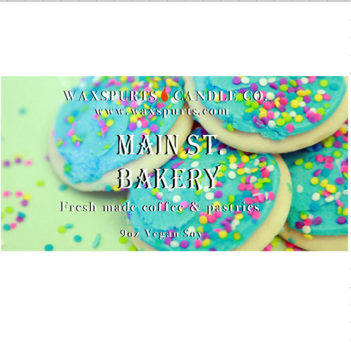 Main St Bakery candles and wax melts