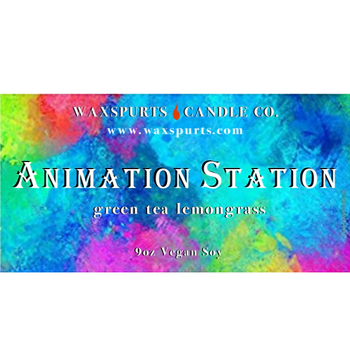 Animation Station candles and wax melts