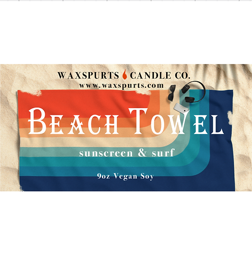 Beach Towel inspired candles and wax melts