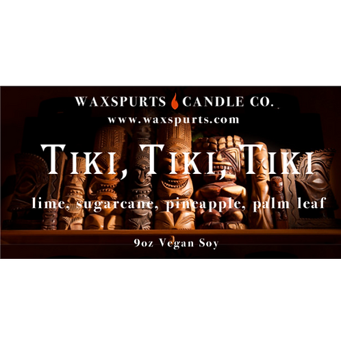 Tiki, Tiki, Tiki candles and wax melts