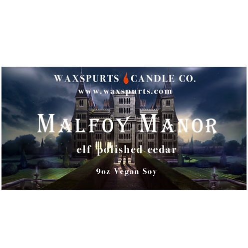 Malfoy Manor candles and wax melts