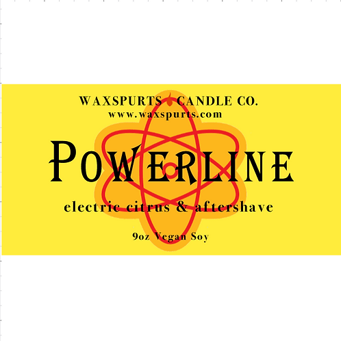 Powerline inspired candles and wax melts