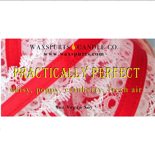 Practically Perfect candles and wax melts