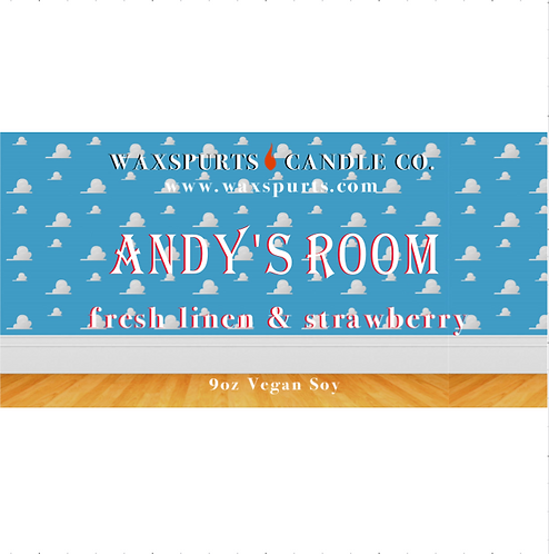Andy's Room candles and wax melts