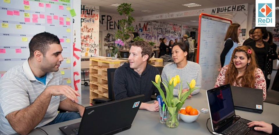 Mark Zuckerberg visits ReDI