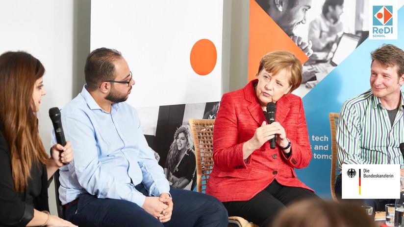 Angela Merkel visits ReDI