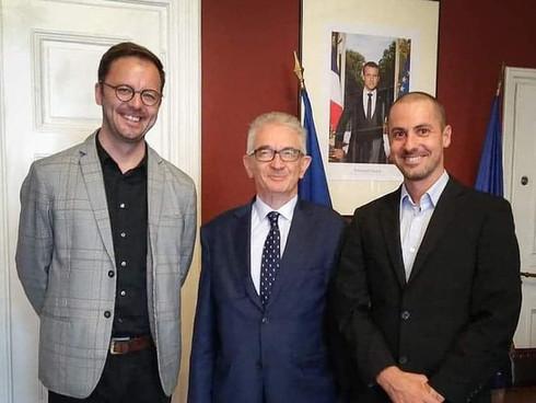 z Konsulem Francji w Krakowie Frederic de Touchet, 1-10-2019