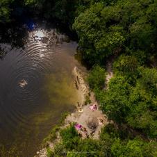 Rio São Bartolomeu dentro da propriedade