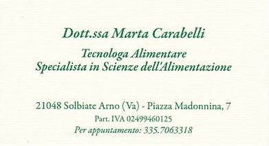 Marta Carabelli Nutrizionista