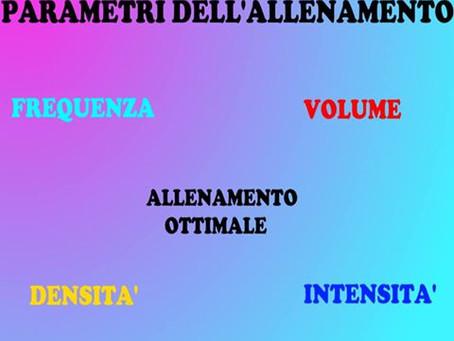CARATTERISTCHE E PARAMETRI DELL'ALLENAMENTO