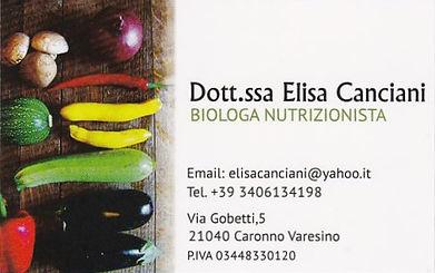 Elisa Canciani Nutrizionista