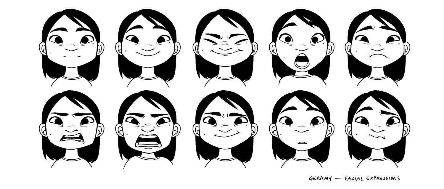 Character_Geramy_facialexpressions