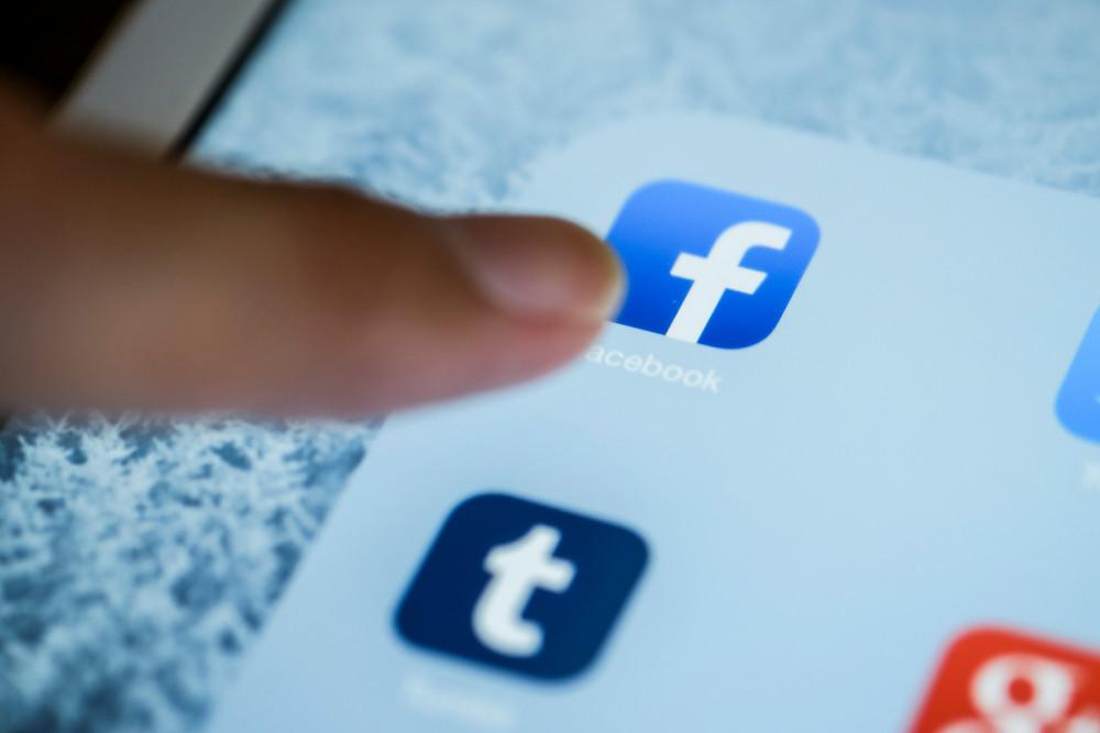 Image of Facebook app.