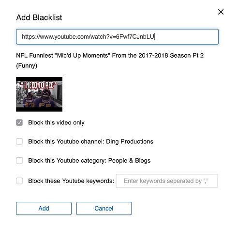 Deledao Parent Portal YouTube Blacklisti