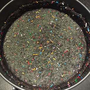 No-bake Oreo Crust with Sprinkles Recipe