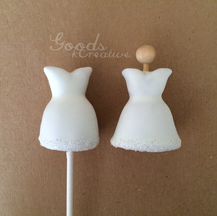 Wedding Dress Cake Pops Tutorial