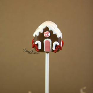 Gingerbread House Cake Pop Tutorial
