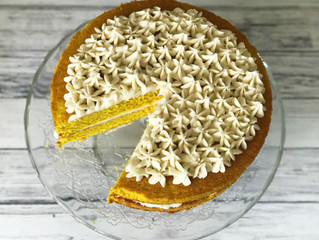 Turmeric Cake with Honey Buttercream