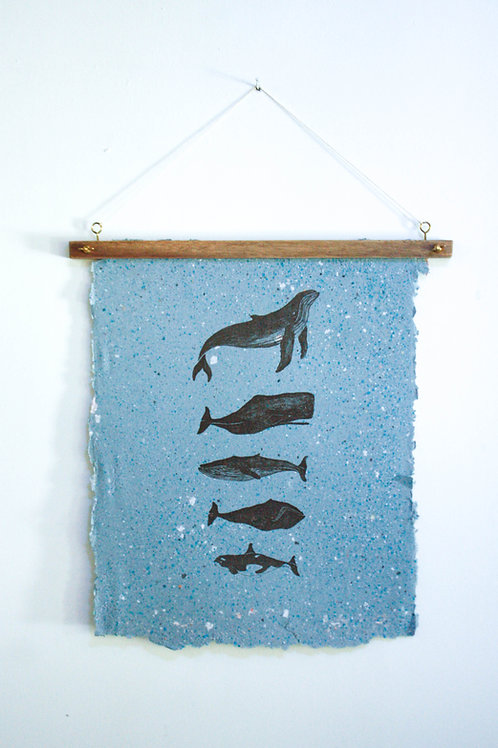 Poster Waale /  Azul /  tinta orgânica