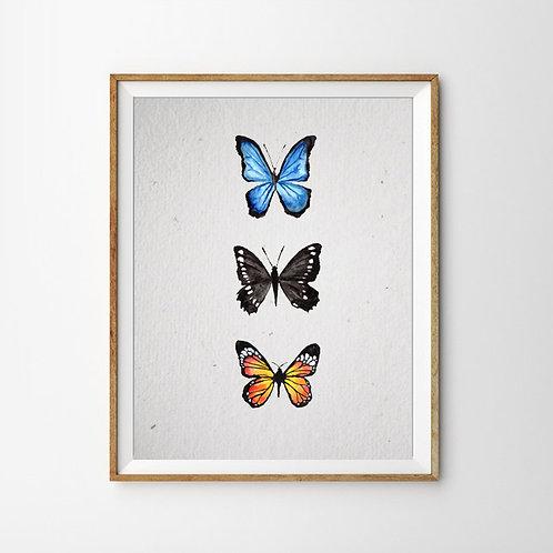 Schmetterlinge Print