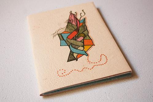 Caderno - Jacaroa de boa  I  por Clauky Boom