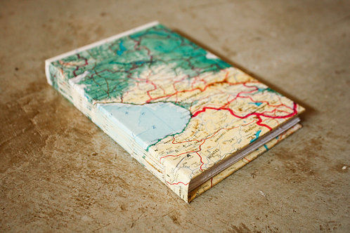 Caderno capa dura / A6 / Geográfico