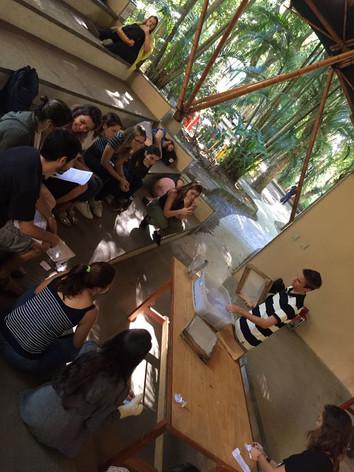 Oficina de reciclagem de papel - Semana de Meio Ambiente / PUC-RJ