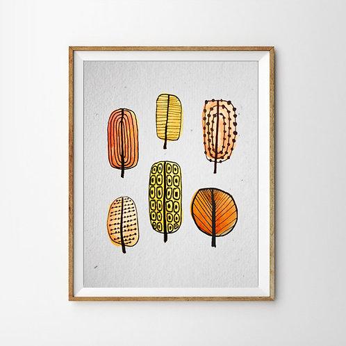 Bäume Print