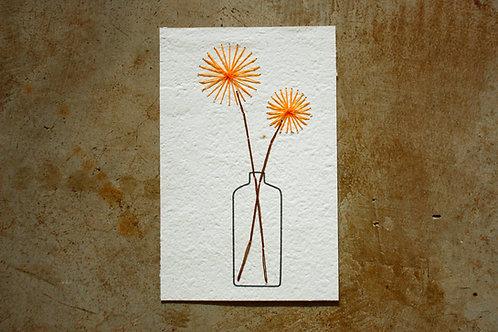 Cartão para bordar - Flores