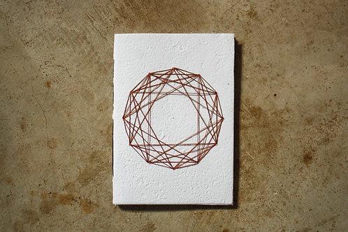 Caderno A5 para bordar - Mandala