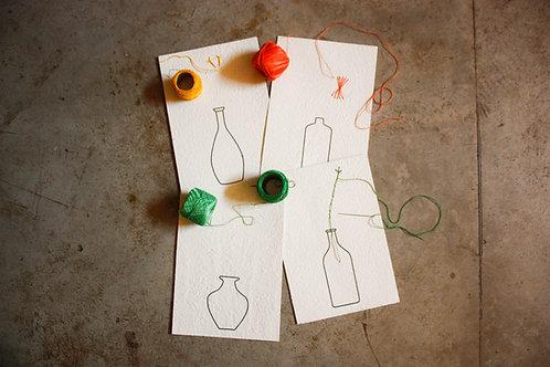 Kit cartões para bordar