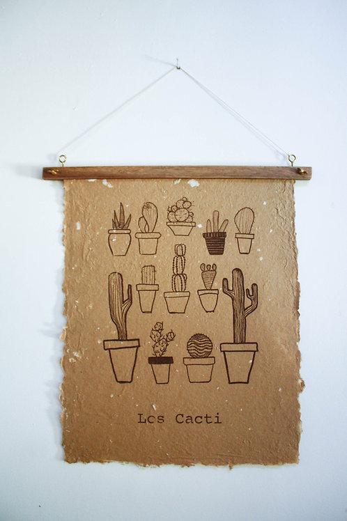 Poster Los Cacti / Kraft / tinta orgânica