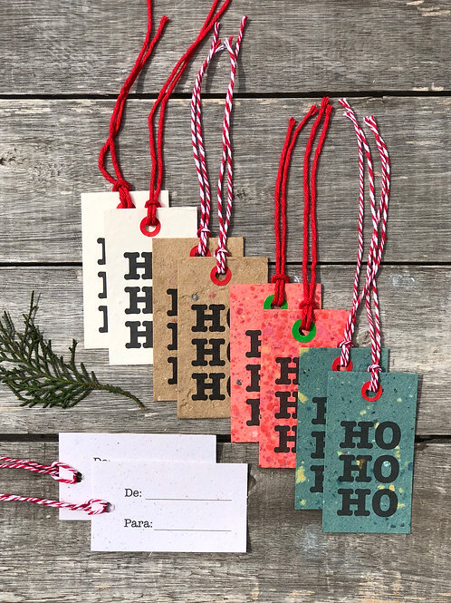 Kit tags HOHOHO  I  Cores diversas