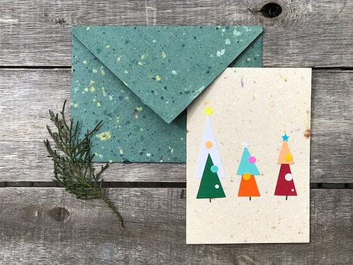 Kit cartão colagem natal  + envelope