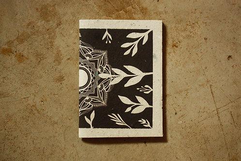Caderno Mandala Sombras / A5 / Capa Pólen / por Flora Schneider