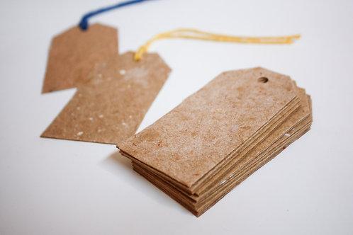 Tag / 10 unidades / papel kraft reciclado