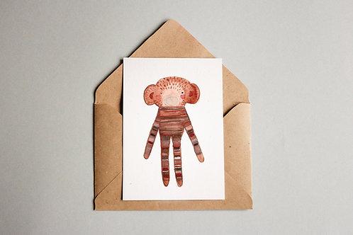 Cartão Macaco