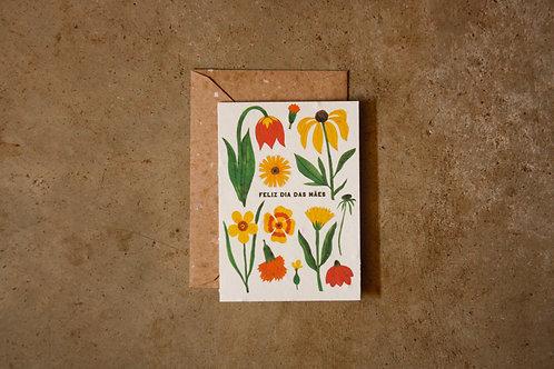 Cartão Dias das Mães floral