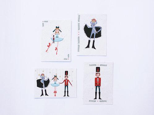 """Kit cartões """"O Quebra Nozes"""" + Envelopes"""