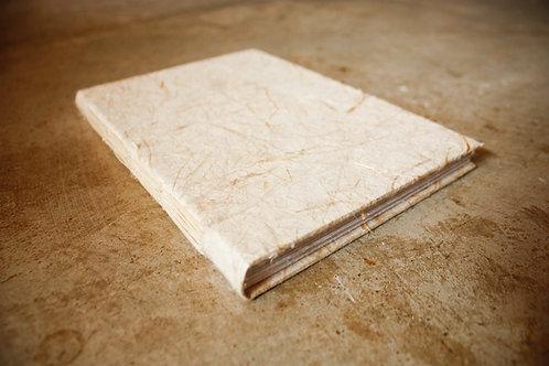 Caderno capa dura / A5 / Fibras naturais