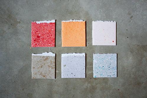 Cadernos 'O Resto' / Kit 6 cadernos / 10x10cm / detalhe rústico