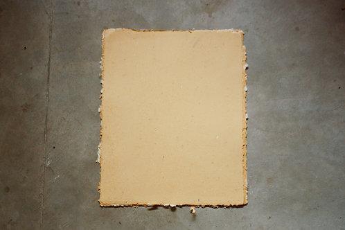 Papel pardo reciclado / 50x40cm / bordas rústicas - 10 folhas